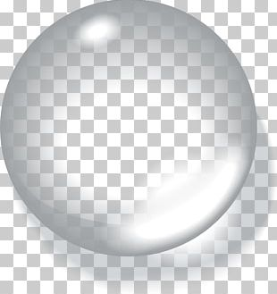 White Drop Sphere PNG