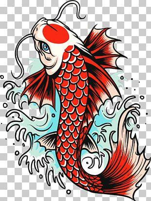 Koi Carp Goldfish Tattoo PNG