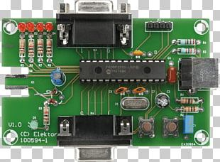 Microcontroller Printed Circuit Boards Electronics Electric Potential Difference Elektor PNG