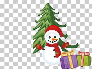 Christmas Tree Santa Claus Candy Cane Snowman PNG