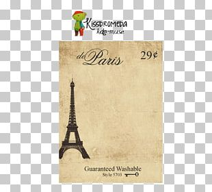 Eiffel Tower Paper Text Post Cards Typeface PNG