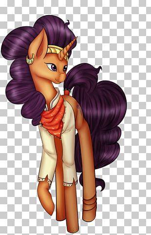 Horse Cartoon Fairy Brown Hair PNG