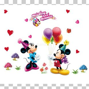 Mickey Mouse Minnie Mouse Wall Decal Sticker Decorative Arts PNG