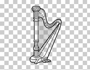 Harp Drawing Musical Instruments Coloring Book PNG