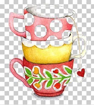 Teacup Coffee Mug Painting PNG