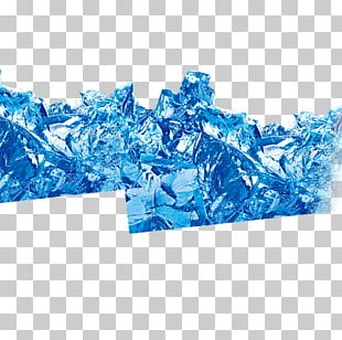 Blue Ice Glacier PNG