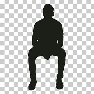 Silhouette Sitting PNG