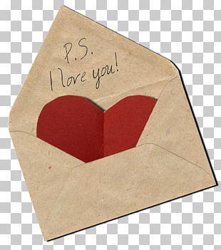 Paper Love Letter Envelope PNG