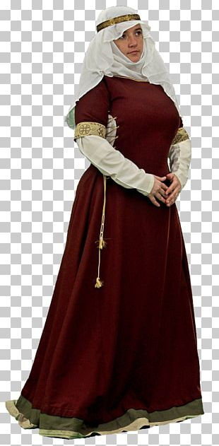 Middle Ages Woman Costume PNG