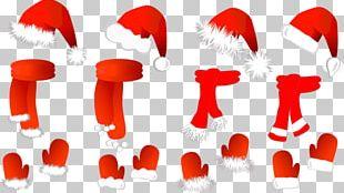 Santa Claus Hat Scarf Christmas PNG