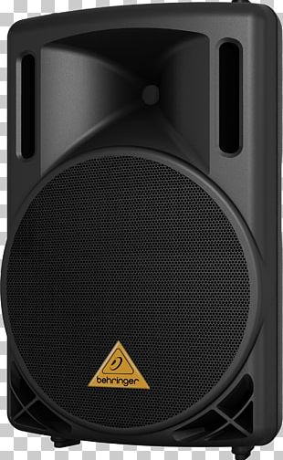 Microphone Loudspeaker Public Address Systems Behringer Powered Speakers PNG