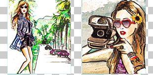Fashion Illustration Cartoon Character PNG