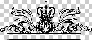 Hand Painted Black Crown Vine PNG