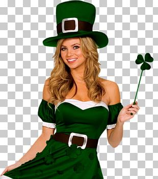 Saint Patrick's Day 17 March Woman Costume PNG