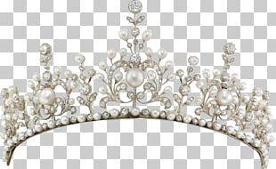 Tiara Pearl Diamond Necklace Crown PNG