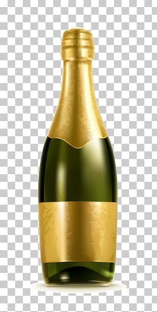 Champagne Bottle Alcoholic Beverage Illustration PNG