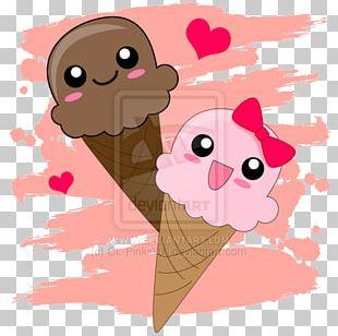 Ice Cream Cones Kavaii Sugar Vanilla Ice Cream PNG