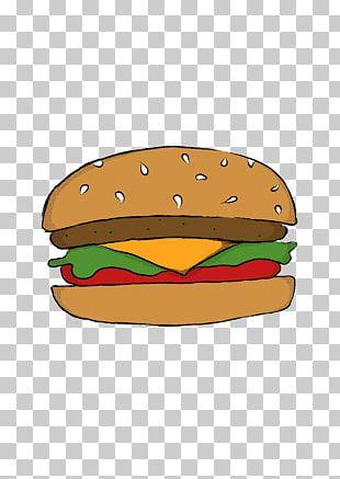Cheeseburger Hamburger French Fries Drawing Fast Food PNG