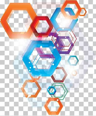 Colorful Polygonal Elements PNG