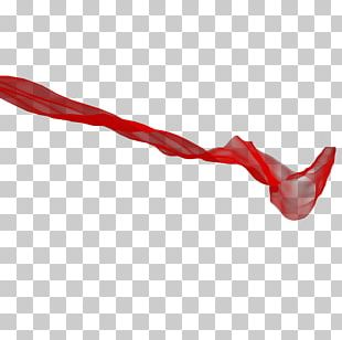 Silk Red Ribbon PNG