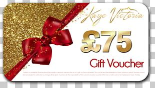 Voucher Gift Card Font PNG