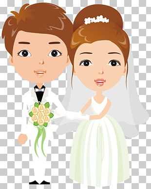 Bride Cartoon Illustration PNG