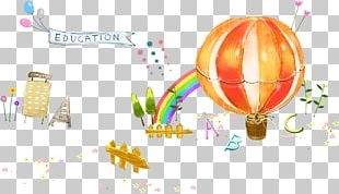 Cartoon Balloon Watercolor Painting Illustration PNG