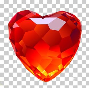 Red Diamonds Heart PNG