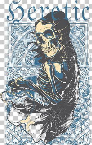 T-shirt Calavera Skull Devil PNG