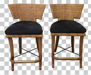 Bar Stool Table Chair Wicker PNG
