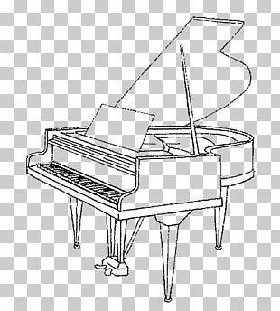 Drawing Grand Piano Musical Instruments PNG