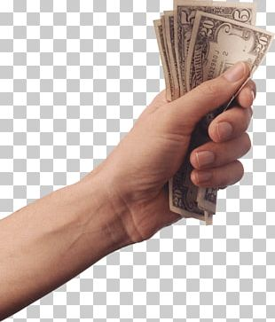 Hand Holding Cash Money PNG
