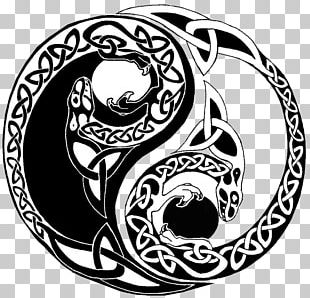 Yin And Yang Celts Tattoo Celtic Knot PNG