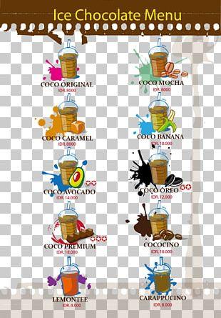 Juice Coffee Drink Hot Chocolate Menu PNG