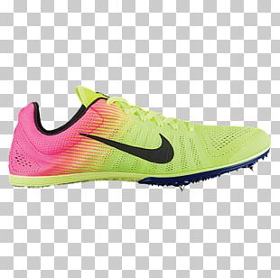 Nike Flywire Track Spikes Cross Country Running Shoe PNG