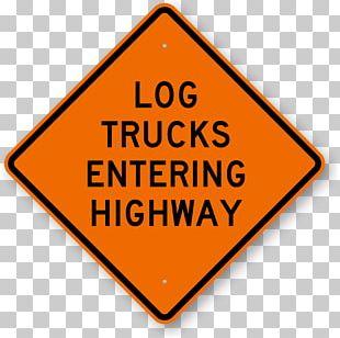 Traffic Sign Logging Truck Warning Sign Road PNG