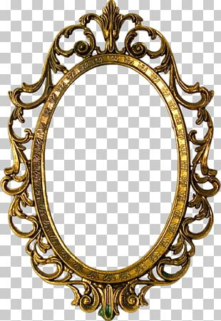 Frames Window Gold Glass Oval PNG