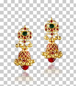 Earring Ruby Jewellery Gold Necklace PNG