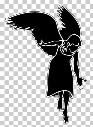 Silhouette Cherub Angel PNG