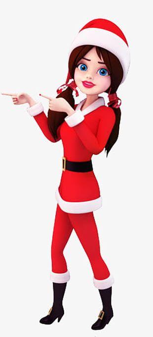 Christmas Christmas Girl Buckle Clip Free PNG