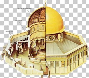Dome Of The Rock Temple In Jerusalem Old City Foundation Stone Holy Of Holies PNG