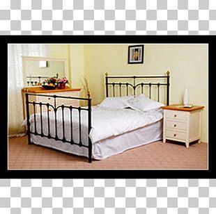 Bed Frame Bedside Tables Drawer Bed Sheets Mattress PNG