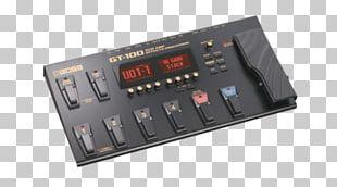 Guitar Amplifier Effects Processors & Pedals BOSS GT-100 Amplifier Modeling PNG
