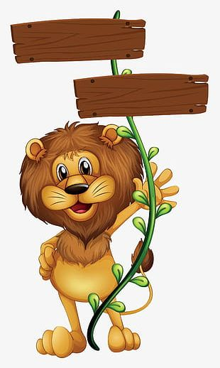 A Lion With A Rope Grip PNG