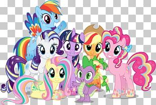 Pinkie Pie Rainbow Dash Twilight Sparkle Applejack Rarity PNG