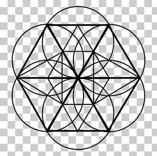 Sacred Geometry Circle Line PNG