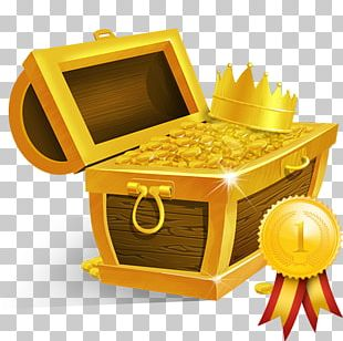 Buried Treasure Crown Gold PNG