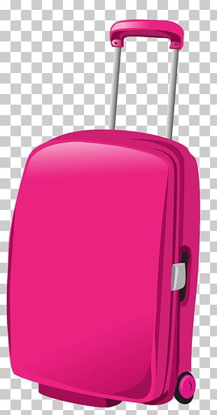 Suitcase Baggage Travel Pink PNG
