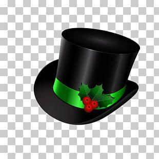 Santa Claus Top Hat Christmas PNG