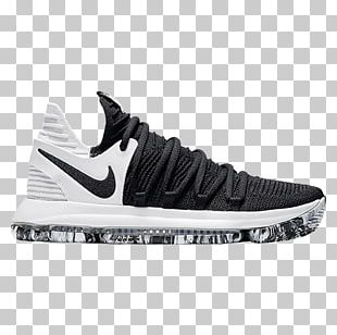 Nike Zoom Kd 10 Nike KD 10 Black White Nike KD X Boys Basketball Shoe PNG